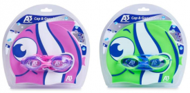 New Matching Goggles & Swim Cap Combo!